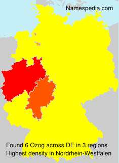 Surname Ozog in Germany