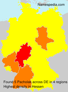 Surname Pacholak in Germany