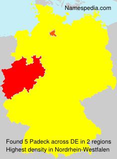 Surname Padeck in Germany