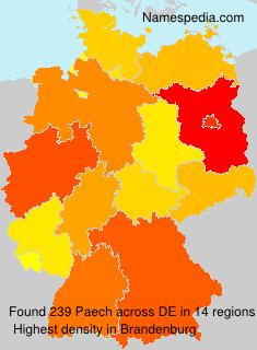 Familiennamen Paech - Germany