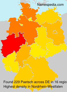 Surname Paetsch in Germany