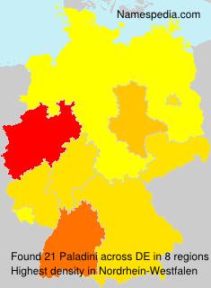 Familiennamen Paladini - Germany