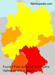 Familiennamen Palat - Germany