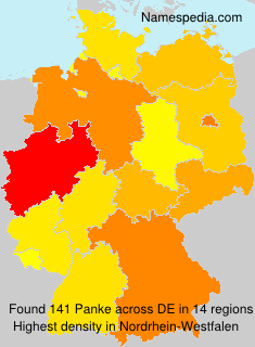 Surname Panke in Germany
