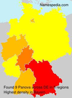 Surname Panova in Germany