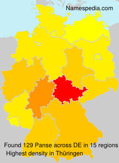 Surname Panse in Germany
