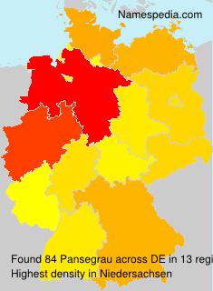 Familiennamen Pansegrau - Germany