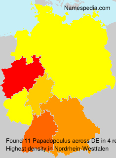 Surname Papadopoulus in Germany