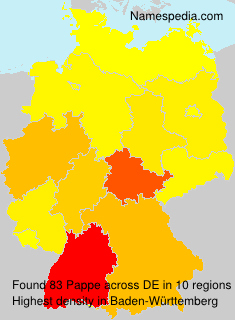 Familiennamen Pappe - Germany