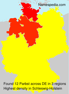 Surname Parbst in Germany