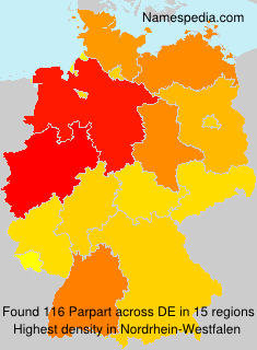 Surname Parpart in Germany