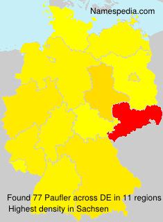 Familiennamen Paufler - Germany