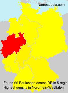 Familiennamen Paulussen - Germany