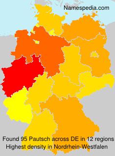 Familiennamen Pautsch - Germany