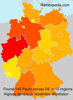 Familiennamen Pautz - Germany