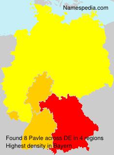 Surname Pavle in Germany