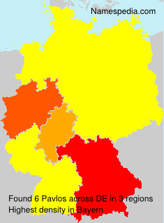 Surname Pavlos in Germany