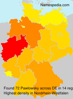 Surname Pawlowsky in Germany