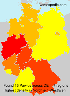Surname Pawlus in Germany