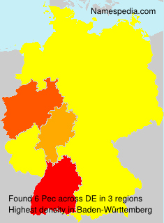 Familiennamen Pec - Germany