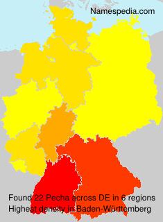 Familiennamen Pecha - Germany