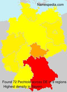 Familiennamen Pechtold - Germany