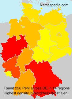 Surname Pehl in Germany