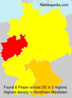 Familiennamen Peiper - Germany