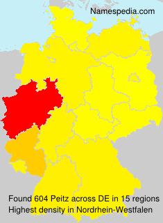 Surname Peitz in Germany