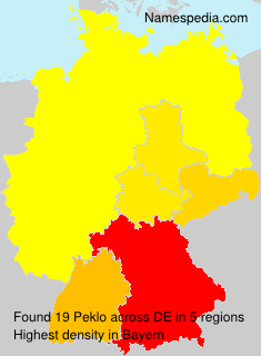 Surname Peklo in Germany