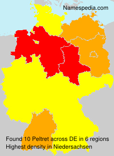 Surname Peltret in Germany