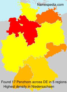 Surname Penzhorn in Germany