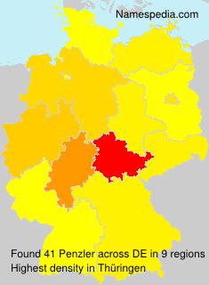 Surname Penzler in Germany