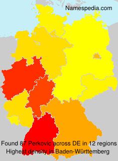 Surname Perkovic in Germany