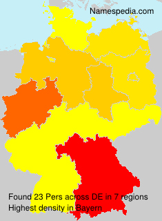 Surname Pers in Germany