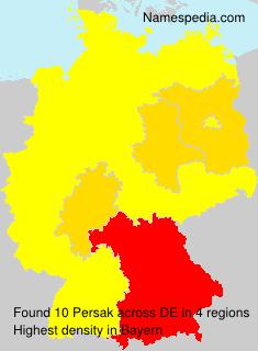 Familiennamen Persak - Germany
