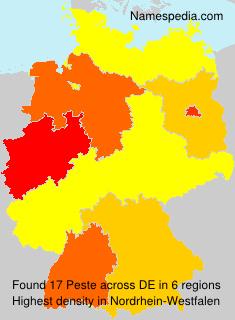 Surname Peste in Germany