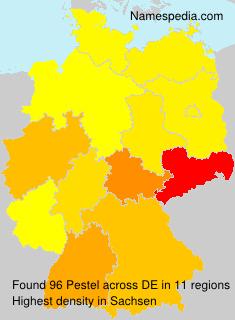 Surname Pestel in Germany