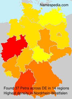 Familiennamen Petra - Germany