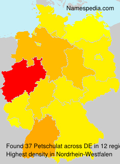 Surname Petschulat in Germany