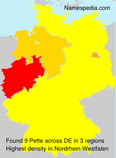 Surname Pette in Germany