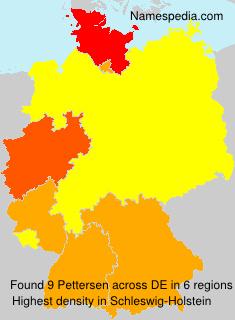 Surname Pettersen in Germany
