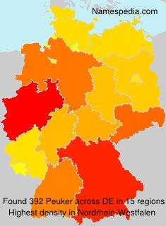 Surname Peuker in Germany