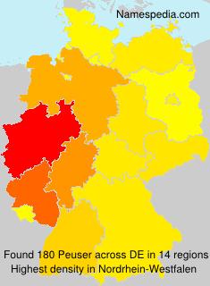 Surname Peuser in Germany