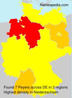 Familiennamen Peyers - Germany