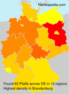 Surname Pfaffe in Germany