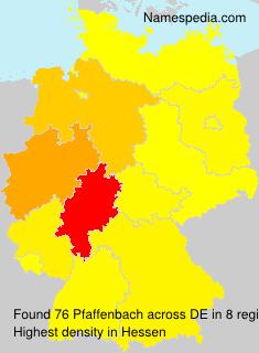 Surname Pfaffenbach in Germany