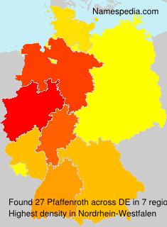 Surname Pfaffenroth in Germany