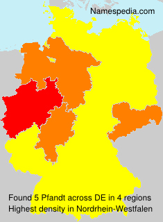 Surname Pfandt in Germany