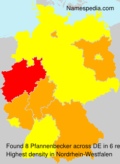 Surname Pfannenbecker in Germany